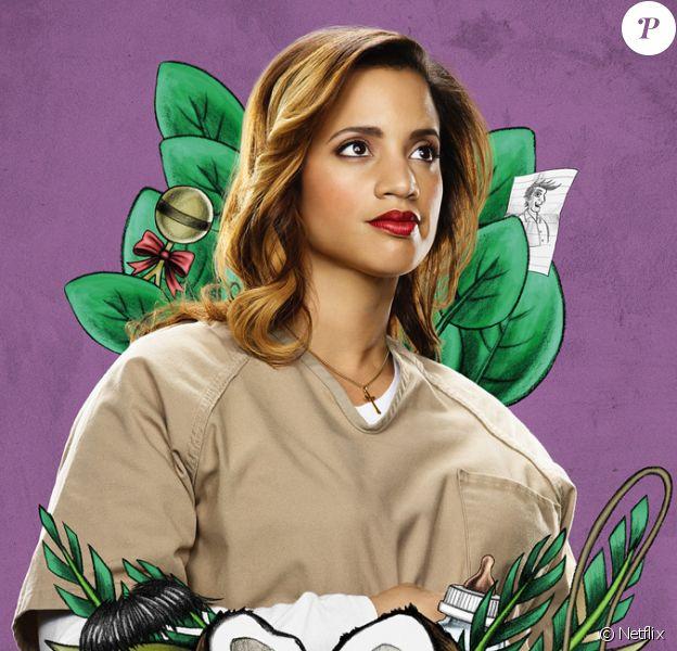 """Dascha Polanco - poster promotionnel de la saison 3 de """"Orange is the New Black"""" attendue le 12 juin 2015."""