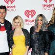 """Pablo Schreiber, Taryn Manning, Dascha Polanco et Laverne Cox - Les stars d'Orange is the New Black au festival """"iHeartRadio"""" à Las Vegas, le 21 septembre 2014."""