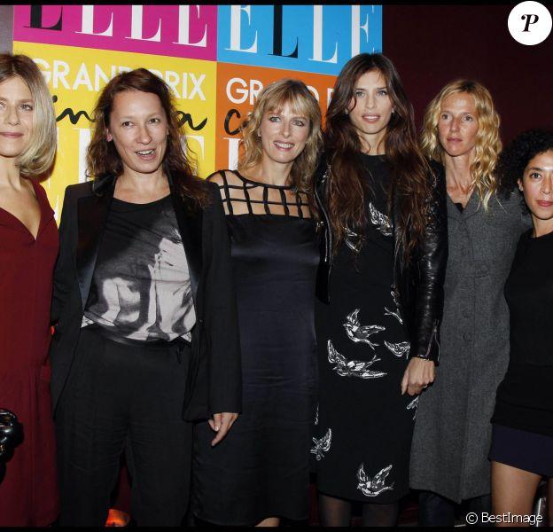 Marina Foïs, Emmanuelle Bercot, Karin Viard, Maïwenn, Sandrine Kiberlain, Naidra Ayadi - Grand Prix du magazine Elle le 10 octobre 2011 à Paris