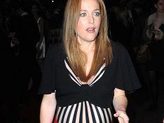 REPORTAGE PHOTOS : Gillian Anderson très enceinte... assure jusqu'à la fin !