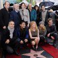 Marg Helgenberger aux côtés du casting des  Experts , reçoit son étoile sur le Hollywood Boulevard. Le 23 janvier 2012.