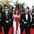 """Membres du jury Caméra d'or Melvil Poupaud, Sabine Azéma, Didier Huck et Bernard Payen - Montée des marches du film """"La Tête Haute"""" pour l'ouverture du 68 ème Festival du film de Cannes – Cannes le 13 mai 2015  Red carpet for the movie """"La Tete Haute"""" for the opening ceremony of the 68 th Cannes Film festival - Cannes on May 13, 2015.13/05/2015 - Cannes"""