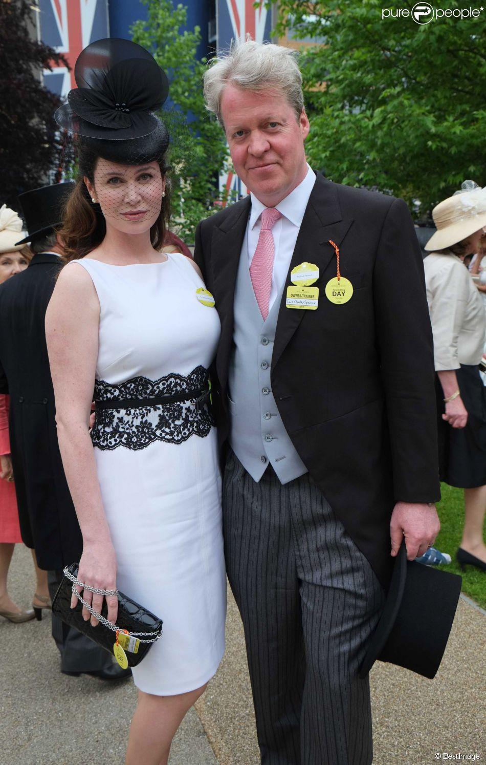 Charles Spencer, frère de Lady Di, et son épouse Karen, en juin 2013 lors du Royal Ascot.
