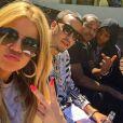 Khloé Kardashian, French Montana, Chinx, Malika Haqq et Diddy à Miami. Mars 2015.