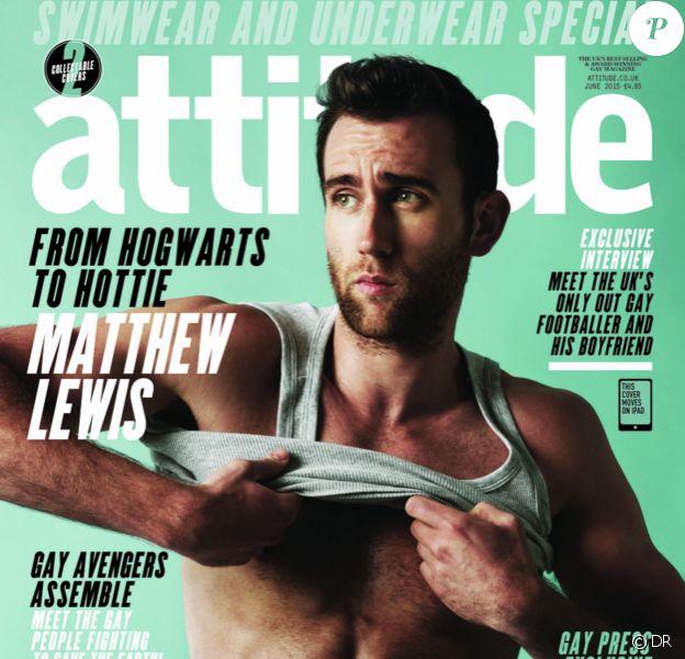 Matthew Lewis, alias Neville Longbottom dans Harry Potter, très hot sur la couverture du magazine Attitude - juin 2015