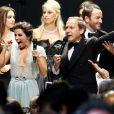 """Eva Longoria (robe Georges Hobeika) - Photocall de la soirée """"AmfAR's Cinema Against AIDS"""" à l'hôtel de l'Eden Roc au Cap d'Antibes le 21 mai 2015, lors du 68e festival du film de Cannes."""