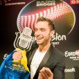 Le gagnant de l'Eurovision 2015 : le Suédois Mans Zelmerlöw, à Vienne en Autriche, le 23 mai 2015.