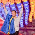 """Le gagnant de l'Eurovision 2015 est la Suède ! Mans Zelmerlow s'est imposé grâce au titre """"Heroes"""" à Vienne en Autriche, le 23 mai 2015"""