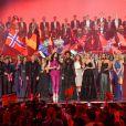 Conchita Wurst lors de la finale de l'Eurovision 2015 à Vienne en Autriche, le 23 mai 2015