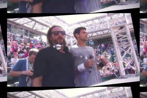 Roland-Garros : Cyril Hanouna ambianceur avec Bob Sinclar et Novak Djokovic
