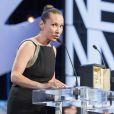 """Emmanuelle Bercot (prix d'interprétation féminine pour le film """"Mon Roi"""") - Cérémonie de clôture du 68e Festival International du film de Cannes, le 24 mai 2015."""