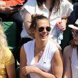 Lorie dans les tribunes lors du tournoi de tennis de Roland-Garros à Paris le 27 mai 2015.