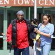 Tracy Morgan avec sa compagne et sa fille, dans le New Jersey, le 31 mars 2015