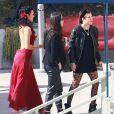 """Demi Moore et ses filles Rumer Willis et Tallulah Willis - People à l'enregistrement de """"Dancing With The Stars"""" à Hollywood, le 4 mai 2015."""