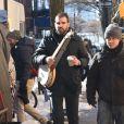 """Zachary Quinto et Melissa George sur le tournage de """"The Slap"""" à New York le 5 février 2015"""