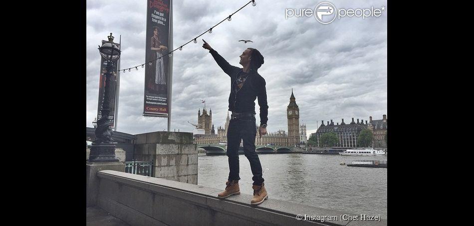 Chet Haze de retour sur Instagram après s'être fait supprimer son comptep pour ses propos autour du n-word. Photo postée le 4 juin 2015 à Londres.