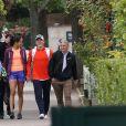 Exclusif - Ana Ivanovic et Bastian Schweinsteiger à Roland-Garros le 28 mai 2015. La tenniswoman a pu compter sur le soutien de son chéri, célèbre footballeur allemand, lequel a même pris des cours de tennis, mais aussi sur toute sa tendresse...
