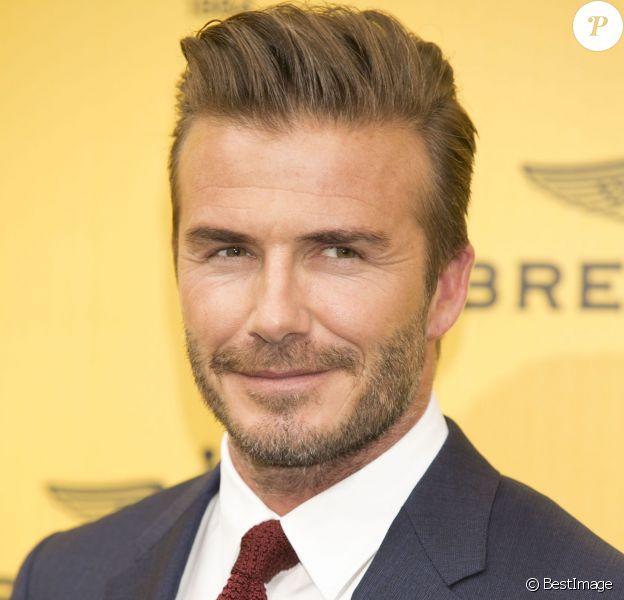 David Beckham lors de l'inauguration de la nouvelle boutique Breitling à Madrid, le 3 juin 2015.