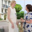 Exclusif - La princesse Charlene de Monaco avec Cherie Blair lors du Women in Leadership Summit, à Monaco le 2 juin 2015