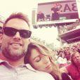 Natalie Zea et son mari Travis Schudlt à Roland Garros, sur Instagram en mai 2015