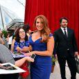 Poppy Montgomery, héroïne de la série Unforgettable, a fait le show lors de la soirée d'ouverture du 55e Festival International de Télévision de Monte-Carlo le 13 juin 2015 !