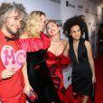 "Wayne Coyne, Katy Weaver, Miley Cyrus, Tyler Ford - Gala ""AmfAR Inspiration Gala"" à New York, le 16 juin 2015."