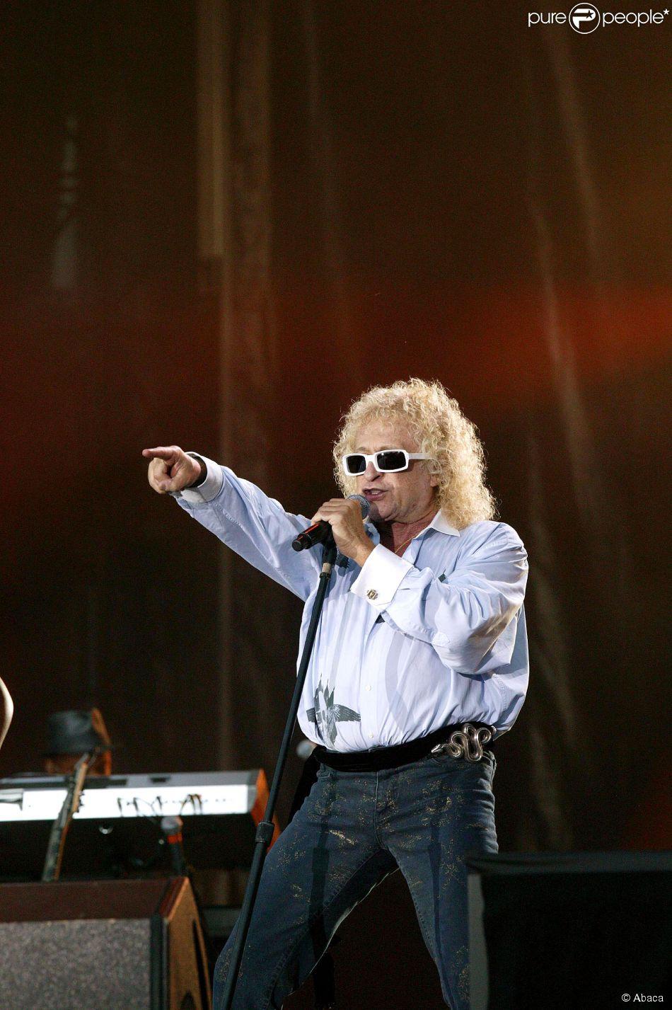 Michel Polnareff en concert à Paris, le 14 juillet 2007.