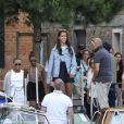 Exclusif - Michelle Obama, en visite à Venise avec ses filles Malia et Sasha, le 20 juin 2015.