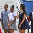 Michelle Obama et ses filles Malia et Sasha arrivent à Venise, le 19 juin 2015.