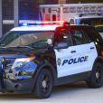 P. Diddy dans une voiture de police après son altercation avec le coach de son fils à UCLA le 22 juin 2015.