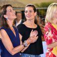 Caroline de Hanovre et sa fille Charlotte Casiraghi lors de la Pro Am Cup lors du Jumping International de Monaco, le 26 juin 2015