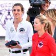 Charlotte Casiraghi et Edwina Tops-Alexander lors de la Pro Am Cup du 20e Jumping International de Monaco, le 26 juin 2015