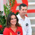Guillaume Canet et Jessica Springsteen lors de la Pro Am Cup du 20e Jumping International de Monaco, le 26 juin 2015
