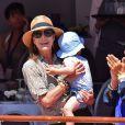 La princesse Caroline de Hanovre et son petit-fils Raphaël lors du 20e Jumping International de Monte-Carlo à Monaco, le 26 juin 2015