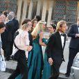 Exclusif - Andrea Casiraghi - Mariage de Noor Farès et Alexandre Khawam en l'église Sainte-Catherine de Honfleur, le 13 juin 2015.