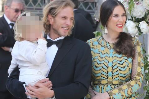 Andrea Casiraghi papa poule avec son fils et sa femme au mariage de Noor Farès