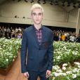Gabriel-Kane Day-Lewis (fils d'Isabelle Adjani et de Daniel Day-Lewis) - Défilé Dior Homme printemps-été 2016 au Tennis Club de Paris le 27 juin 2015.