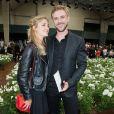 Laure de Clermont-Tonerre et Boyd Holbrook, nouvel ambassadeur de la marque - Défilé Dior Homme printemps-été 2016 au Tennis Club de Paris le 27 juin 2015.