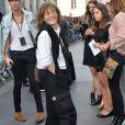 Jane Birkin - Arrivée des people au défilé Saint Laurent Homme collection Printemps-Eté 2016 au Carreau du Temple lors de la Fashion Week à Paris, le 28 juin 2015.