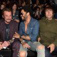 Johnny Hallyday, Lenny Kravitz et Liam Gallagher au show Saint Laurent Paris le 28 juin 2015 à Paris