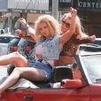 """Britney Spears et Iggy Azalea sur le tournage du clip de """"Pretty Girls"""" à Studio City, le 9 avril 2015."""