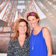 Exclusif - Coco Coupérie-Eiffel et Sophie Thalmann - Photocall lors de la soirée du Grand Prix Longines Global Champions Tour lors du Longines Paris Eiffel Jumping au Champ-de-Mars à Paris, le 4 juillet 2015.