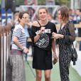 Charlotte Casiraghi et Juliette Maillot, Marion Cotillard - Reconnaissance du parcours lors du Longines Paris Eiffel Jumping au Champ-de-Mars à Paris, le 4 juillet 2015.