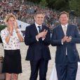 Virginie Coupérie-Eiffel, Juan-Carlos Capelli vice-président de Longines et Jan Tops - Remise du Grand Prix de Paris lors du Longines Paris Eiffel Jumping au Champ-de-Mars à Paris, le 4 juillet 2015.