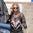 Fergie à la sortie d'un studio d'enregistrement à Santa Monica, le 3 juillet 2015