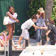 Rosie O'Donnell en vacances avec sa famile à Miami, le 12 avril 2012