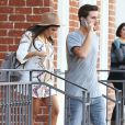 Kourtney Kardashian enceinte et son compagnon Scott Disick se rendent chez le médecin à Beverly Hills, le 16 octobre 2014.