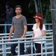 """Kourtney Kardashian et Scott Disick emmenent leur fils Mason au """"Everglades Safari Park"""" a Miami, le 11 decembre 2012."""
