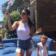 Kourtney Kardashian et sa fille Penelope sur Instagram - Juillet 2015