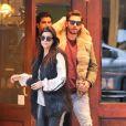 Kourtney Kardashian et Scott Disick vont déjeuner au restaurant Cipriani à New York, le 24 février 2014.